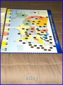 U. S. A. COIN COLLECTORS MAP COMPLETE With 50 STATE QUARTER SET 1999-2008 MINT RARE