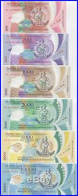 Vanuatu 200 10000 Vatu 2010 2017 UNC, Complete polymer set 6 pcs