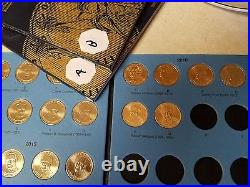 Volume 2 Complete Set X2 (P&D & A&B) 2012-2016 Presidential Gold Dollar 76 Coins