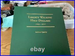 Walking liberty half dollar complete set
