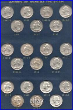 Washington Quarter Complete Set 1932 1964 PDS, several BU! Nice Uncirculated