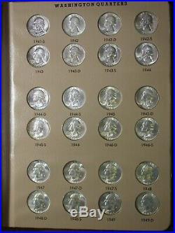 Washington Quarters 1932-1991 Complete UNC BU Dansco Set with proofs