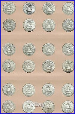 Washington Quarters set. 1932-P to 1998-S with Proofs. XF or better. Complete