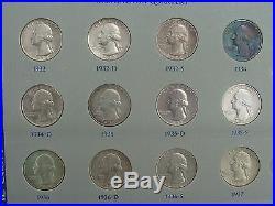 Washington Silver Quarter Dollar Set Complete 1932 1964 1965-1969 Proofs Unc