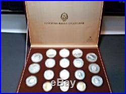 Yugoslavia Sarajevo 1984 Winter Olympics Complete Silver & Gold Proof 18-Pc Set